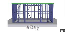 Garden Building Metal Frame 5m x 3m Shed Workshop Summer House Steel Room