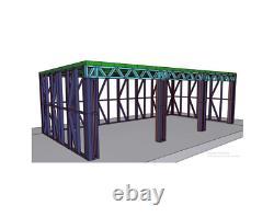 Garden Building Metal Frame 8m x 4m Shed Workshop Large Summer House Steel Room