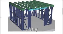Garden Building Metal Frame, Shed Worksop Summer House Steel Room -Various sizes