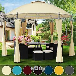 Garden Gazebo Ø350cm Round Party Tent Outdoor Marquee Wedding Pop Up Canopy