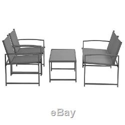 Garden Gear 4pc Bistro Set 2 Chairs Sofa & Table Outdoor Patio Dining Furniture