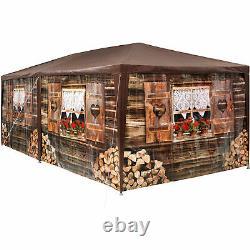 Gazebo 3x6m Party Tent Rustic Wooden Hut Design Festivals Beer Garden Camping
