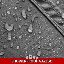 Gazebo Garden Gazebo Pavilion Pu Coated Showerproof 3x3 Mtr Graphite Grey Bexley