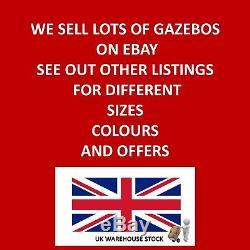 Gazebo Heavy Duty 3x3mtr Garden Gazebo Bronze / Cream Fully Waterproof