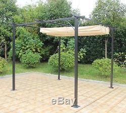 Gazebo Steel Metal Frame Tent Canopy Pagoda Water Resistant Garden Heavy Duty
