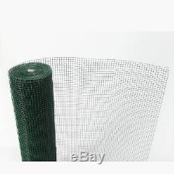Green PVC Coated Chicken Wire Mesh 30M Fencing Garden Barrier Metal Fence