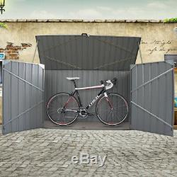Heavy Duty Galvanised Steel Garden Bike Shed Tools Storage Box Patio Shelter