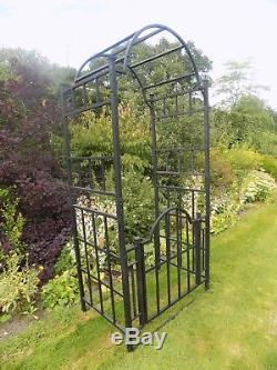 Heavy Duty Metal Garden Arch With Gate And Arched