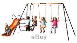 Hedstrom Europa Double Slide Swing & Glider Set Kids Garden Set