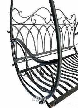 Hollywoodschaukel Metall Antik Vintage 1868 Schmiedeeisen Gartenschaukel Garten