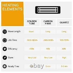 Infrared Heater Patio Electric Ceiling Hanging Garden Outdoor Indoor Safe 1500W