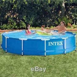 Intex Swimming Pool Metal Frame 366x76cm Outdoor Garden Summer Water Centre