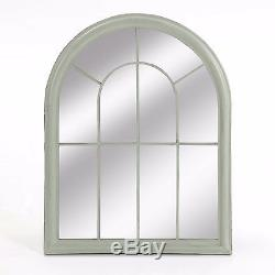 Lancaster Window Garden Mirror in Green by Suntime Classic Metal Frame