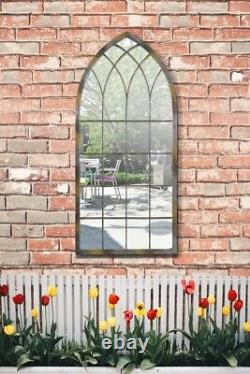 Large Garden Metal Somerley Rustic Arch Mirror Outdoor 114 x 50 CM