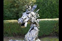 Large Metal Horse Garden Statue
