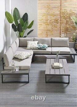 Large Outdoor Corner Sofa Set 6 Seat Patio Garden Furniture Dining Lounger Set