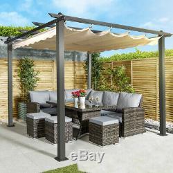 Large Outdoor Garden Metal Pergola Gazebo Cover Patio Party Sun Shade Modern NEW