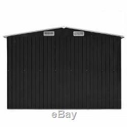Large Steel Garden Shed Bike Unit Storage Workshop Building Tools Box Container