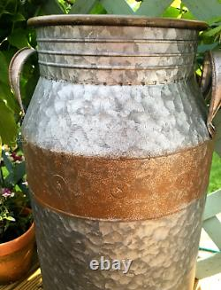 Large Vintage Style Milk Churn Tall Garden Planter Tub Plant Pot Container New
