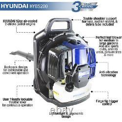 Leaf Blower Garden Backpack PETROL 2 Stroke Engine 52cc Powerful HYUNDAI