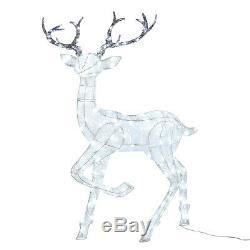Light Up Large Reindeer Christmas Figure Garden Decor Outdoor Plug In Lights4fun