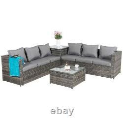 Malta Rattan Wicker Outdoor Garden Furniture Patio 6 Seat Corner Set