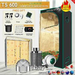 Mars Hydro TS 600W LED Grow Light+Carbon Filter Combo +Grow Tent Complete Kit
