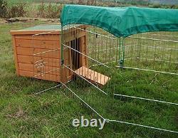 Metal Garden Animal Run Pen Enclosure Rabbit Tortoise Guinea Dog Puppy Chicken