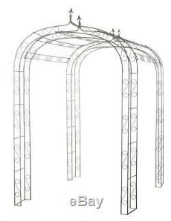 Metal Garden Arch Shabby Chic Pergolas Rusty Garden Arbour Garden Plant Arch