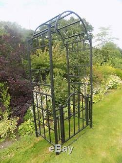 Metal Garden Arch and Gates Climbing Plant Support Rose Frame Archway Heavy Duty