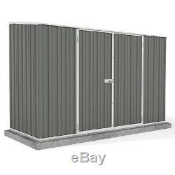 Metal Garden Shed 10x5 Outdoor Storage Building Double Door Pent Roof 10ft 5ft