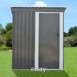Metal Garden Shed 3FT X 5FT Pent Roof Garden Storage Tools Box House Cabinet