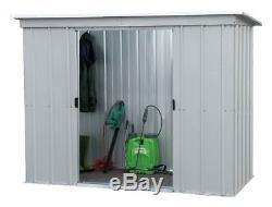 Metal Garden Shed 6x4ft Bike Tool Storage Locking Patio Outdoor Steel Heavy Duty