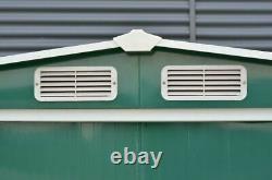 Metal Garden Shed Outdoor Storage Tool House Heavy Duty Organizer Galvanized UK