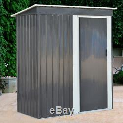 Metal Garden Shed Outdoor Yard Tools Storage Organizer Small House Sliding Door