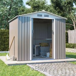 Metal Garden Storage Shed Boxer Apex Galvanised Outdoor Heavy-Duty Steel Shed
