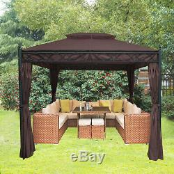 Metal Gazebo Pavilion Awning Canopy Garden Sun Shade Shelter Marquee Party Tent