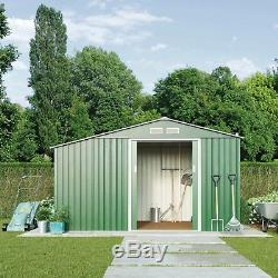 Metal Shed Dry Log Store 11.2x 6.3 Foundation Kit Garden Outdoor Storage Waltons