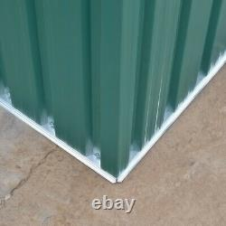 Metal Steel 10 X 8 Garden Shed Outdoor Storage Tool Sheds Building & Foundation