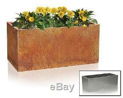Metal Steel Trough Planter Flower Pot Corten Garden Patio Outdoor Rust Deep