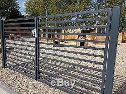 Modern Metal Drive Gates- Wooden Gates, Sheds, garden furniture