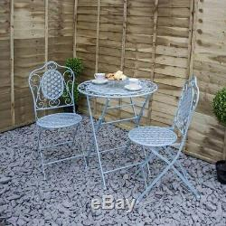 Mosaic Metal Bistro Set 2 Seater Table & Chairs for Patio/Garden/Outdoor Dining