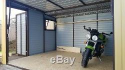 Motorcycle Secure Garage 12x10ft Bike Shed Motorbike Garden Workshop Storage