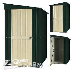 NEW 6x4 8x4 8x5 FT METAL PENT LEAN-TO GARDEN STEEL SHED TIN INC ANCHOR KIT