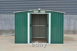 New Garden Shed Metal Apex Roof Outdoor 6X8'' Storage with free base