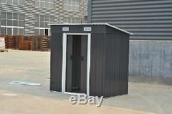 New Metal Garden Shed 3 X 5, 4 X 6, 6 X 8, 10 X 8 Garden Storage with free base