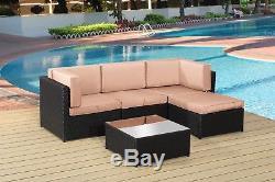 New Rattan Garden Furniture Lounge Corner Set- Am705