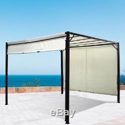 Outdoor Awning Canopy Sun Shade 3mx3mx2.3m Patio Garden Gazebo Adjustable Roof
