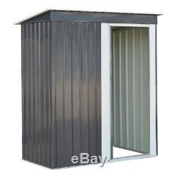 Outdoor Garden Shed Tool Storage Organizer Small House Sliding Door Dark Grey