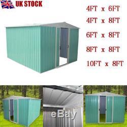 Outdoor Metal Garden 8'X8' 8'X10' 8'X4' 8'X6' Garden Storage Pent Apex Roof Shed